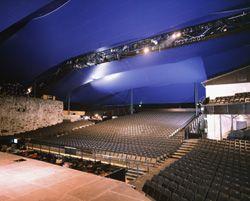 Olavinlinnan katsomo. Olavinlinna Auditorium.