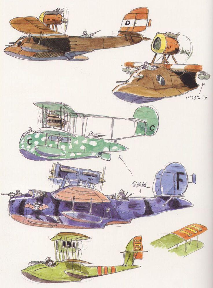 Living Lines Library: 紅の豚 / Porco Rosso (1992) - Prop Design