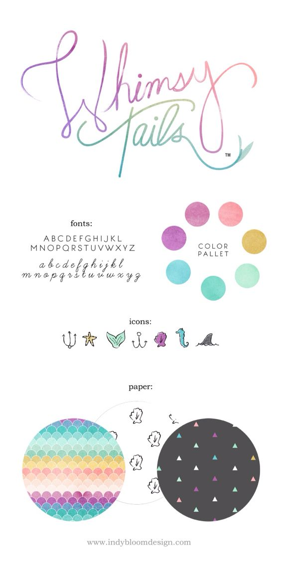 #logo #branding #indybloomdesign #whimsical #mermaid
