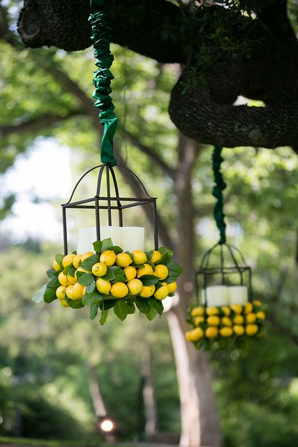 Loved these lanterns hanging in the trees at Arlington Hall! Photographs by KJ Images