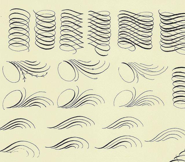 ☛ Calligraphy Practice - Flourish Friday by Jane Farr ☚   ↠@ambika95↞