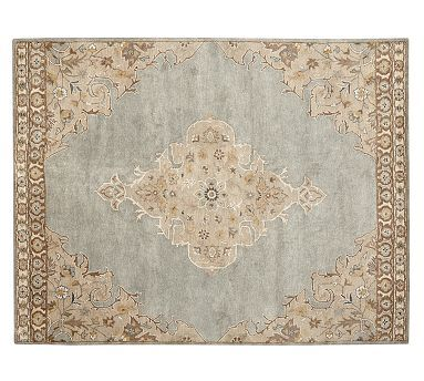 Bryson Persian-Style Rug #potterybarn.  Keith loves this for the master.  Comes 10 x 14', but wool.