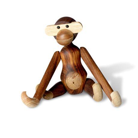 Kay Bojesen wooden monkey (26,5 cm x 7,5 cm x 7,5 cm)  -  Mono de madera de Kay Bojesen