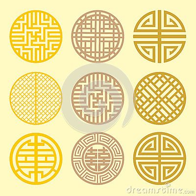 Korean Fan Pattern . Stock Images - Image: 32909614