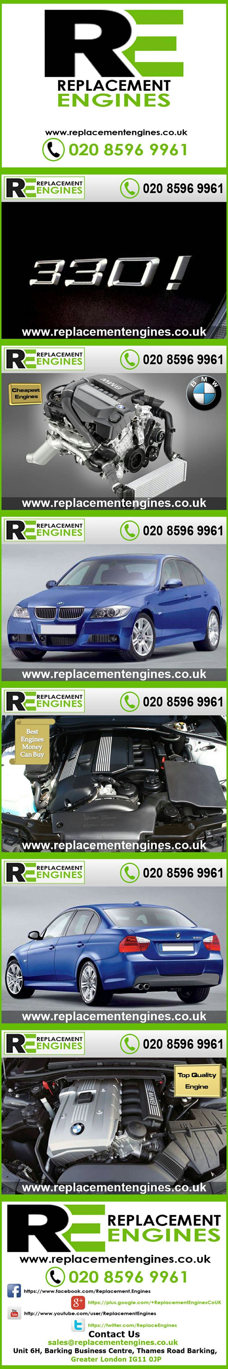 BMW 330i engines for sale at the cheapest prices, we have low mileage used & reconditioned engines in stock now, ready to be delivered to anywhere in the UK or overseas, visit Replacement Engines website here.