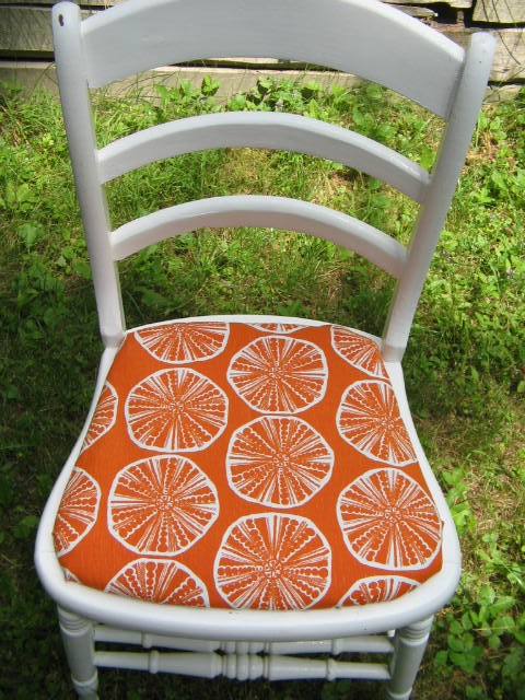 Chair - new fabric from Maine Cottage