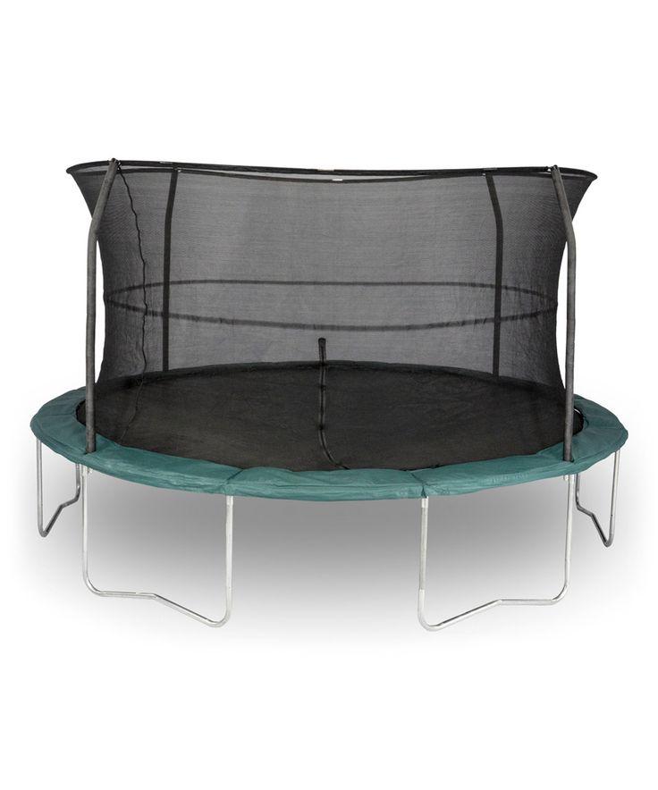Look at this #zulilyfind! Dark Green 14' Trampoline Set by Bazoongi #zulilyfinds