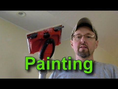 How To Use A Paint Edger To Paint A Wall With A Vaulted Ceiling