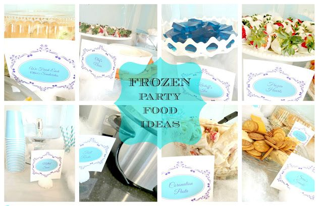 Frozen Themed Birthday Party - Food Ideas -Family and the Lake House - Labels  www.familyandthelakehouse.com