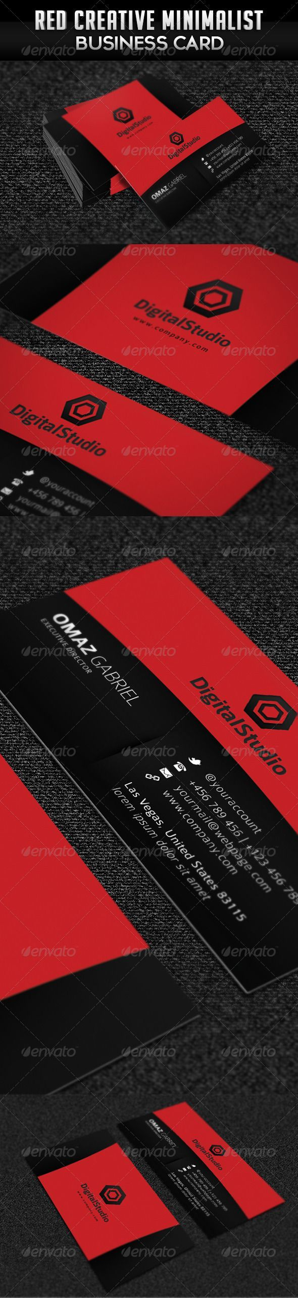 46 best unusual business card designs images on pinterest card buy red creative minimalist business card by ngelamang on graphicriver general description business cards especially for any other type of business easy magicingreecefo Image collections