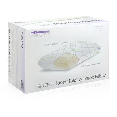 Linenspa Talalay Latex Zoned High Loft Firm Pillow Size: Queen