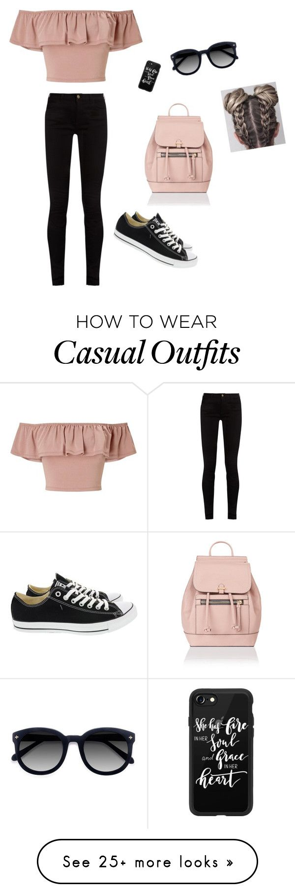 """Casual day"" by avanabanana on Polyvore featuring Miss Selfridge, Gucci, Ace, Casetify, Converse and Accessorize"