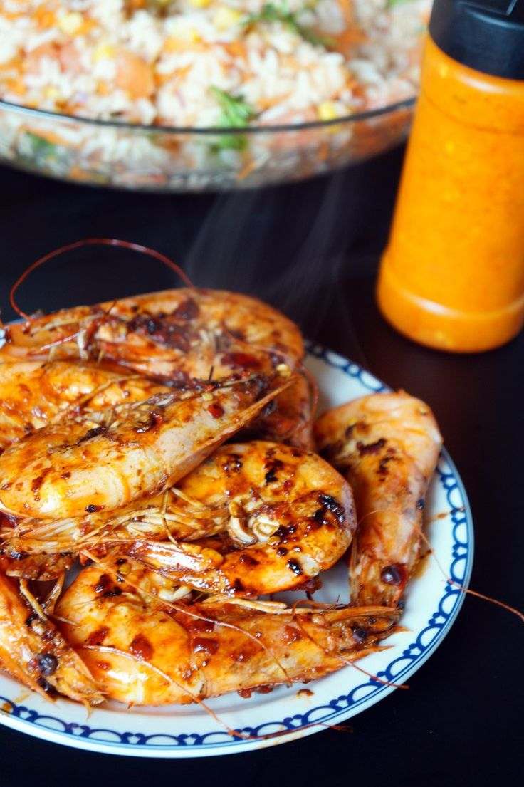 Yummy spicy peri peri prawns, perfect for sharing or eating alone if you prefer.