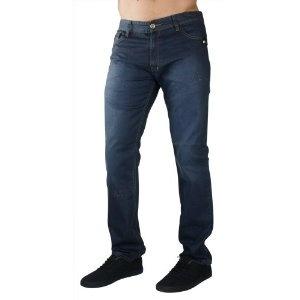 """F.U.S.A.I. Jeans Wax Coated 32"""" Inseam Distressed Denim Mens Slim Straight Pants (Apparel)"""
