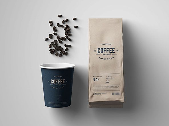 Download Free Premium Psd Mockups Collection 10 Coffee Packaging Coffee Tumblr Coffee Poster Design