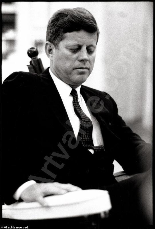 jfk years in office. John F. Kennedy In The Oval Office, Washington, (2) Sold By Jfk Years Office
