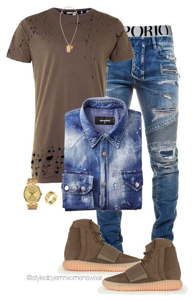 """Untitled #1311"" by efiaeemnxo ❤ liked on Polyvore featuring Emporio Armani, Balmain, adidas, Topman, Nixon, Louis Vuitton, Versace, men's fashion and menswear"