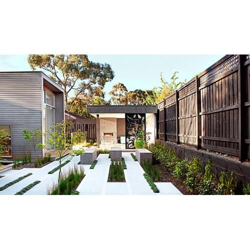 Find out how this landscape designer utilised an L-shaped garden space to create a stylish entertaining area with a courtyard and outdoor room.