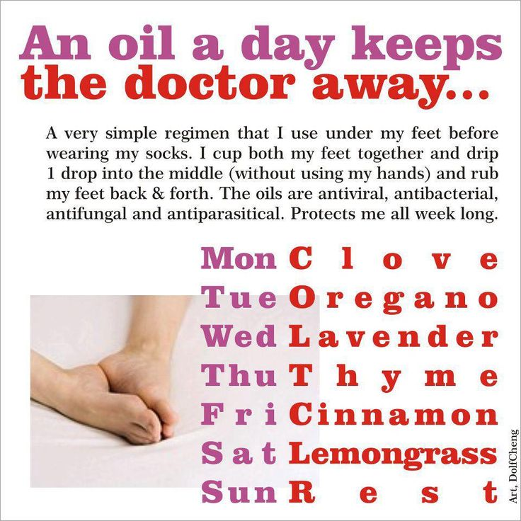 An oil a day keeps the doctor away