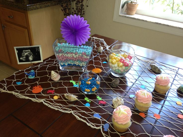 under the sea baby shower table decoration for my baby girl baby
