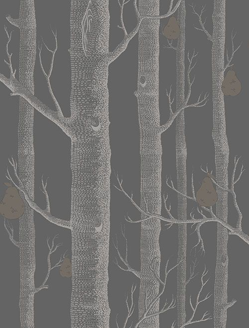 Woods and Pears Black wallpaper by Cole & Son