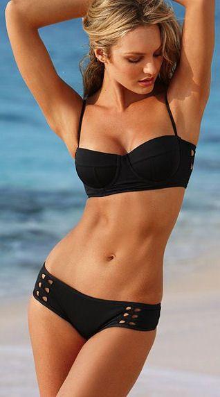 Black Cut-Out Bikini <3
