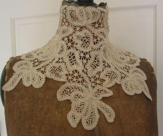 Battenburg Antique Lace Collar