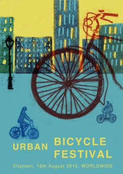 #bicycle #urban #street #festival #ride #bike #poster #affiche #cycling #town #city