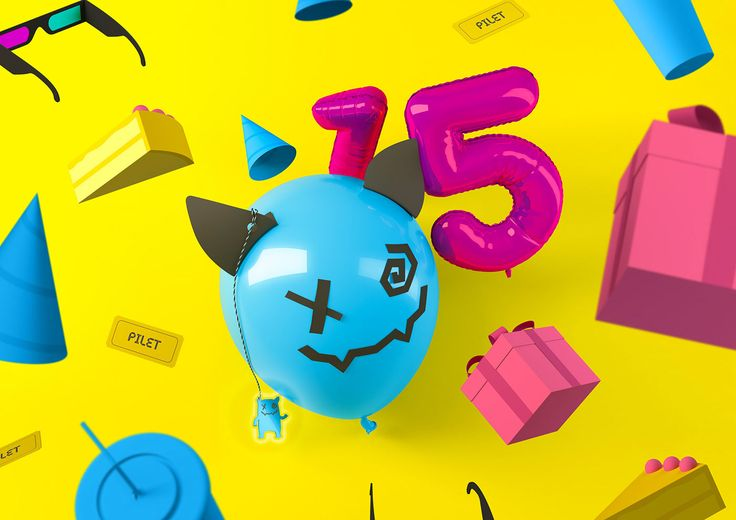 Just Film is an annual kids movie festival and for it's 15'th birthday we turned the festival mascot into a birthday balloon and created other illustrated birthday elements inspired from minecraft & tumblr craze.Art director: Helene Vetik3D: Nicolas Pra…