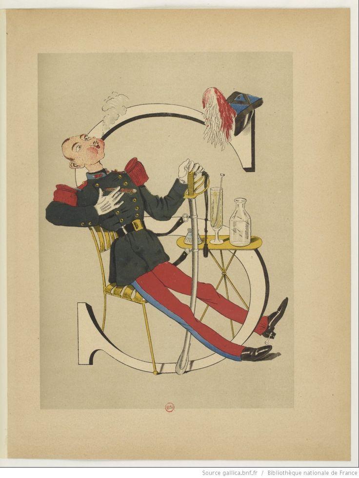 saint-cyr/cavalier--Armée française : nouvel alphabet militaire / texte explicatif de Vanier et dessins par H. de Sta