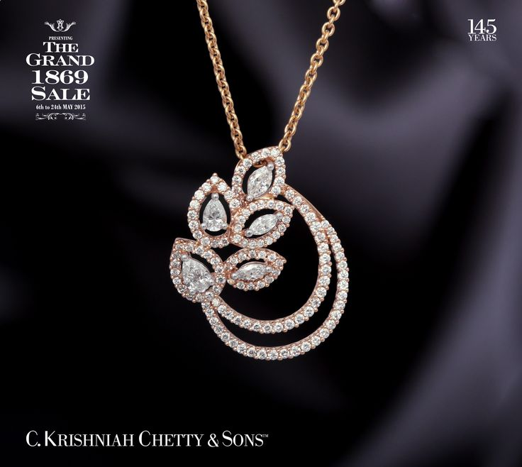 Dear List of Stars member, due to overwhelming response to our The Grand 1869 Sale. We are extending the same offers till Sunday 31st May 2015. This is exclusively for List of Stars members only. Get 9% OFF on this 18kt rose gold pendant.For further inquiries please refer to this code: 0007842009.
