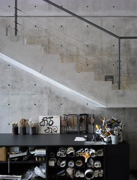 Tadao Ando Knick Knacks. I love to see that even Mr Ando has space for his tools and are not hidden.