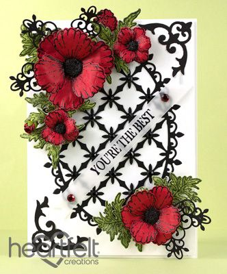 Heartfelt Creations | Decorative Red Poppies