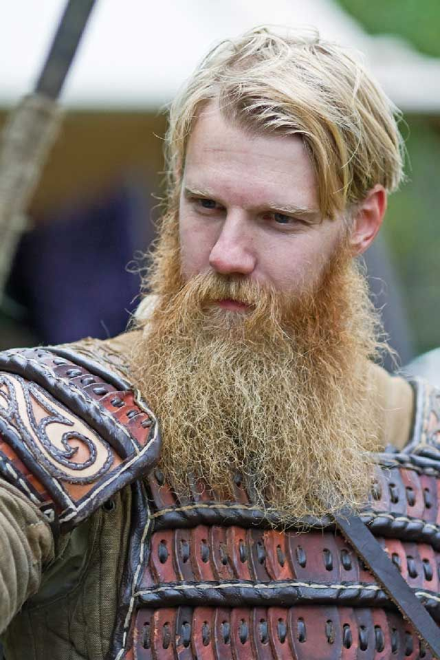 huge thick full blonde viking beard and mustache beards