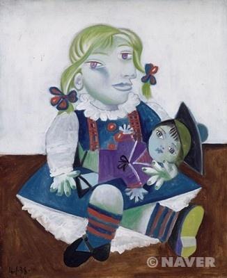 <인형을 든 마야> 파블로 피카소, 1938