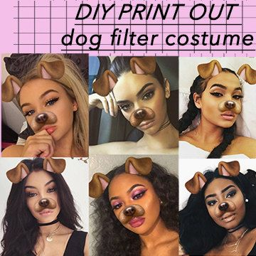 Diy Print Out Snapchat Dog Filter Halloween By