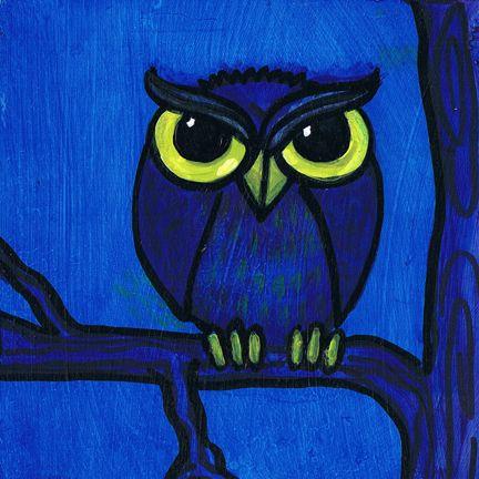 Grumpy Owl Simone Manley @Simbotic