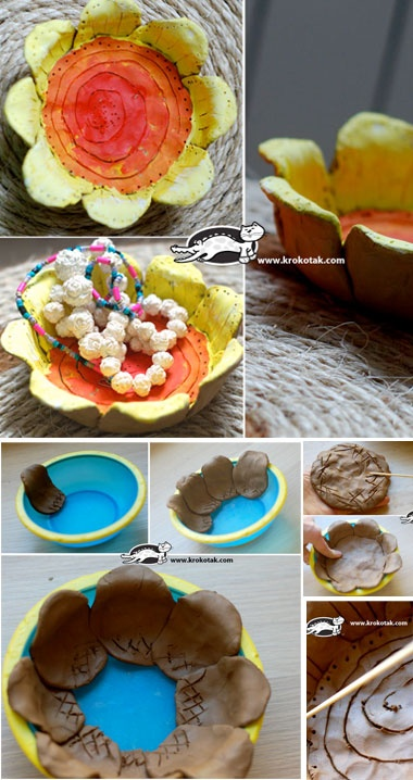 Clay Flower bowl tutorial