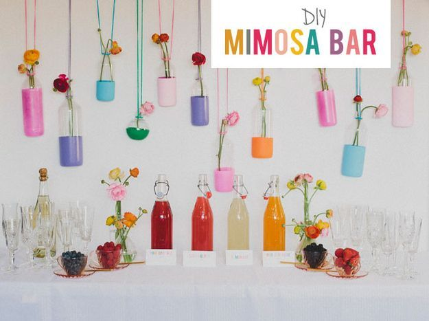Mimosa bar for a morning or brunch reception. | 23 Unconventional But Awesome Wedding Ideas