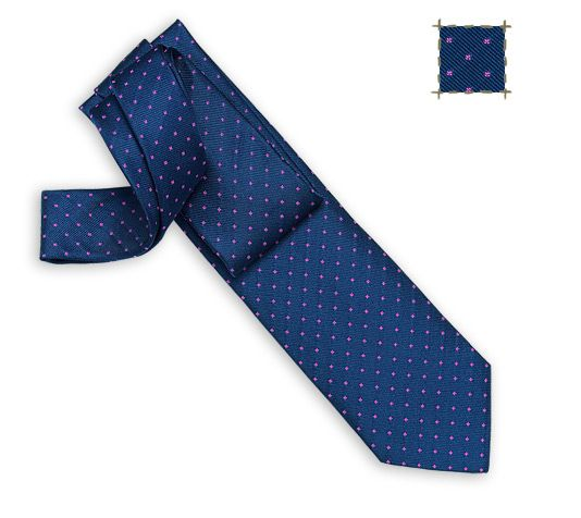 Good Evening Hermes woven silk tie, hand-folded, 3.15'' wide