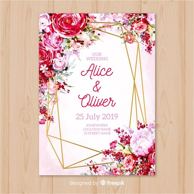 Download Wedding Invitation Template For Free In 2020 Wedding