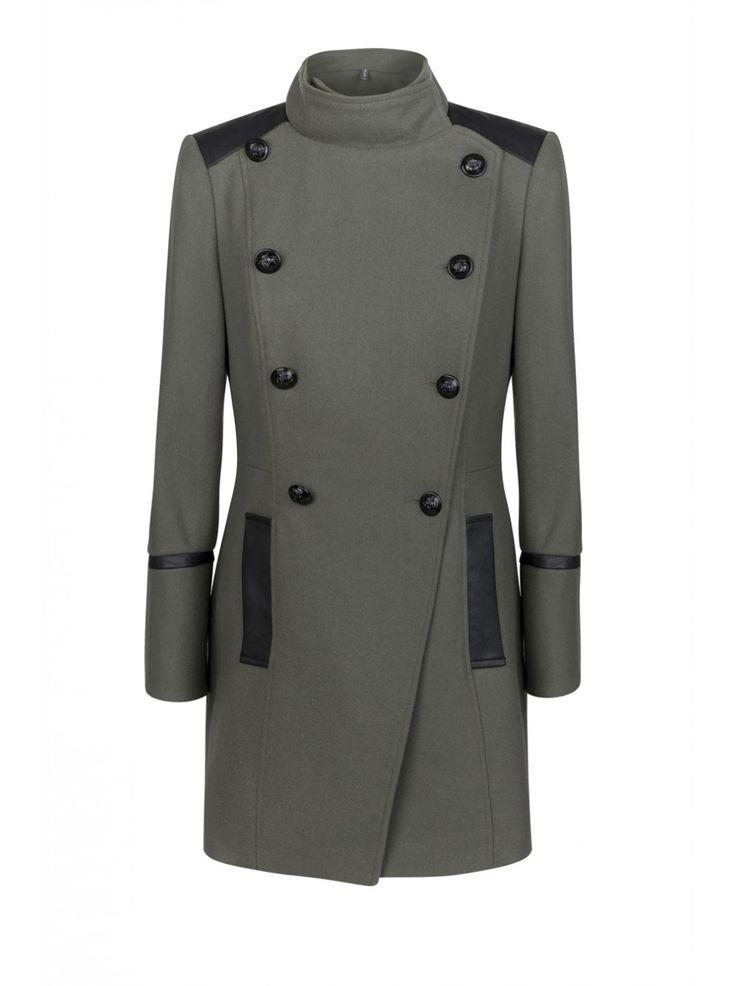je craque pour ce manteau nafnaf manteau style militaire treillis oversizes femme nafnaf. Black Bedroom Furniture Sets. Home Design Ideas