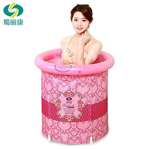 Heavy Duty Adult Size Folding Bathtub, Inflatable Bathtub, Portable Bathtub, Plastic Bathtub ,Spa Bathtub, Massage Bathtub, Folding Bath Bucket, Bath Bucket >>> Visit the image link more details.
