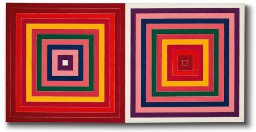 Frank Stella, Red Scramble, 1977, 175 x 350 cm, acrylic on canvas
