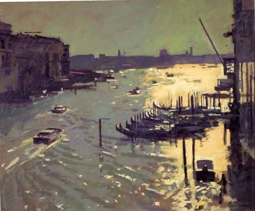 Ken Howard, Morning Light, Grand Canal, Venice …