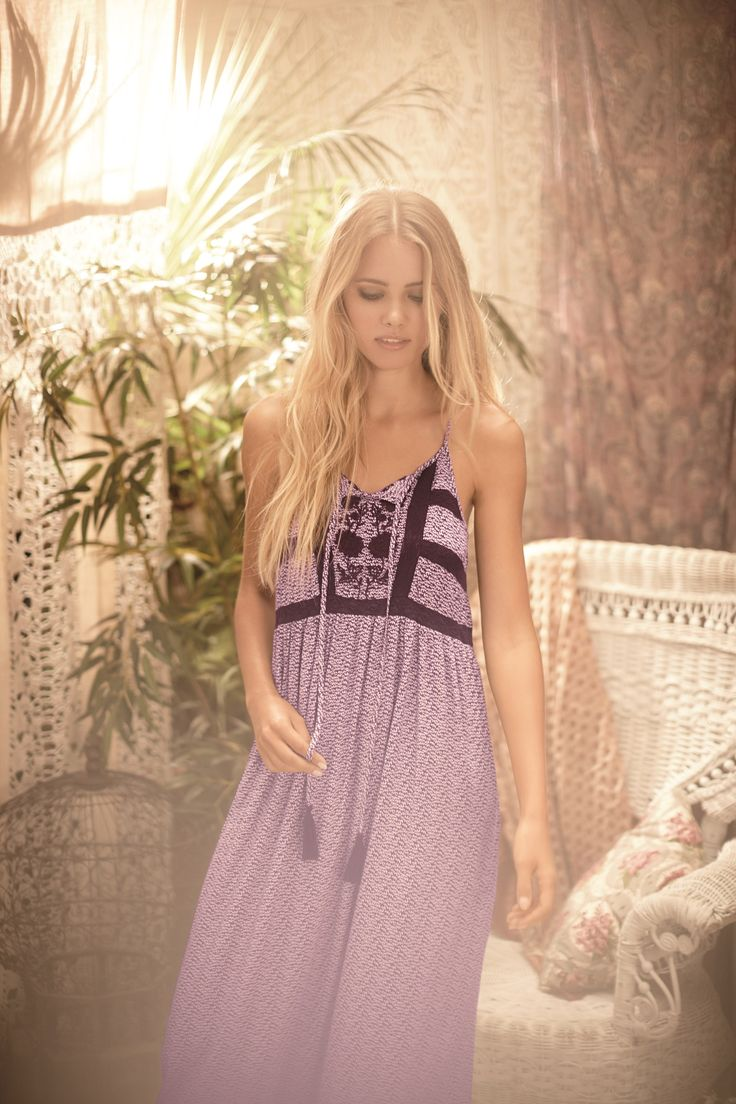 Unwind in this floral maxi nightdress, it's effortless, casual and relaxed in a gorgeous feminine purple.