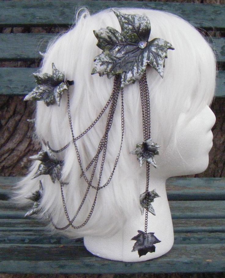 Green Birch Fantasy Hair Piece by WhiteDragonArmory