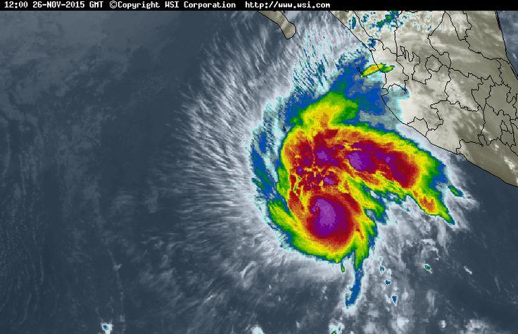 KIKKA: Huracán SANDRA categoria 4 mapa Trayectoria 25 26 27 28 noviembre 2015 Mazatlan Los Cabos BAJA CALIFORNIA SUR, SINALOA pacifico video imagen satelite