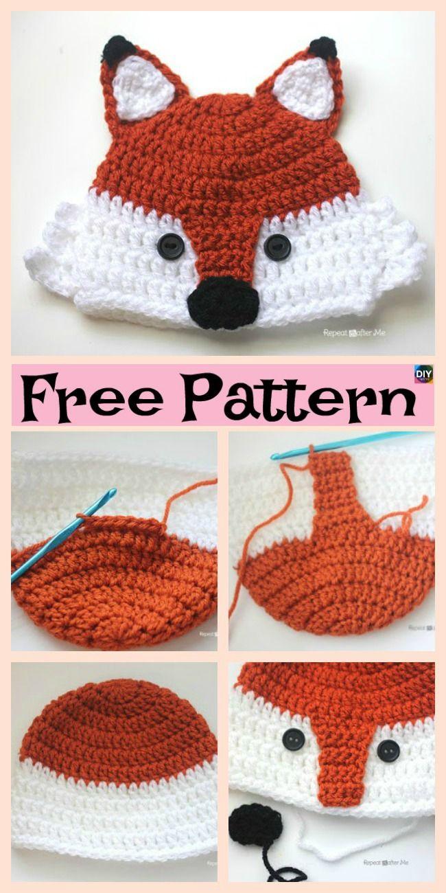 8 Knit Crochet Fox Hats Free Patterns Crochet Knit Patterns