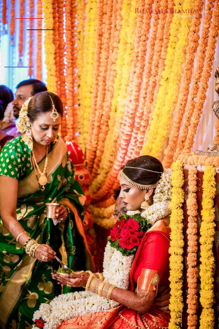 Red and Gold Classic South Indian Wedding {Mumbai, India